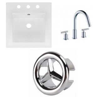 Compare & Buy Ceramic Square Drop-In Bathroom Sink with Faucet ByAmerican Imaginations