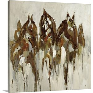 'Equestrian' by Lisa Ridgers Painting Print on Canvas by Canvas On Demand