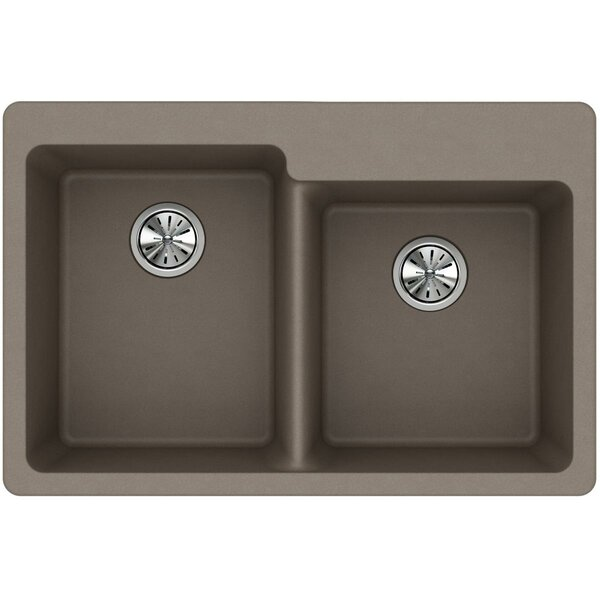 Quartz Classic 33 L x 22 W Double Basin Drop-In Kitchen Sink by Elkay