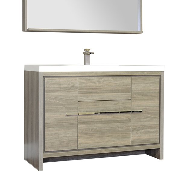 Garett Modern 47 Single Bathroom Vanity Set by Wade Logan