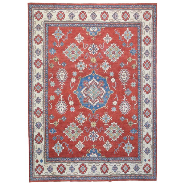 One-of-a-Kind Abbotsford Hand-Knotted Red 10'10 x 15'1 Wool Area Rug