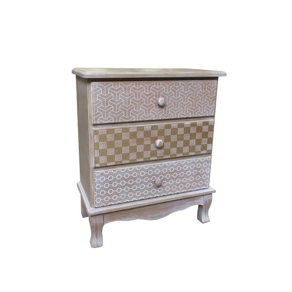 Jost Wooden 3 Drawer Accent Chest by Bungalow Rose Bungalow Rose