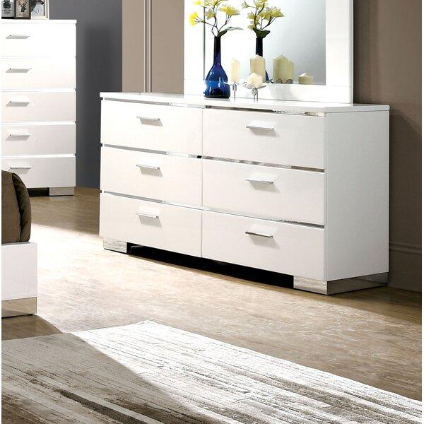 Ricka 6 Drawer Double Dresser with Mirror by Brayden Studio