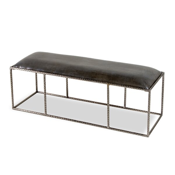 Ethan Genuine Leather Bench by Interlude