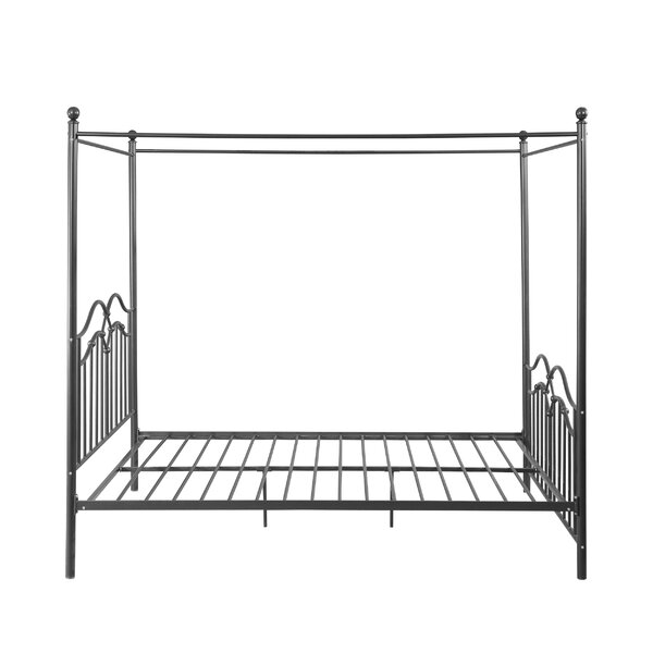 Virgilina Traditional Iron Queen Canopy Bed by Three Posts