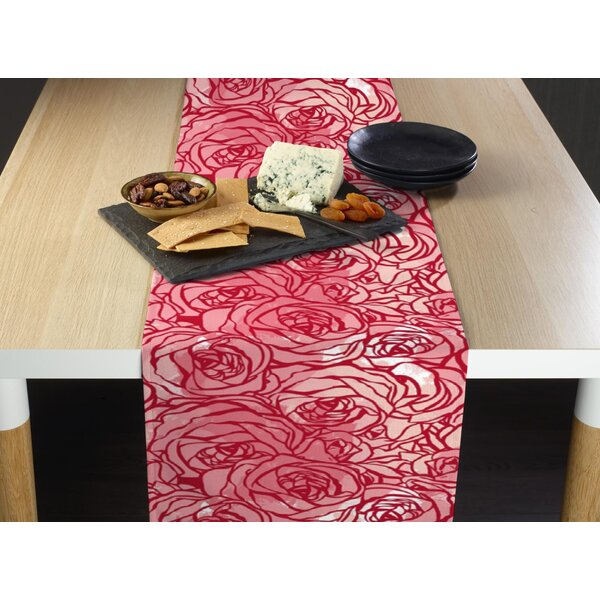 Lore Hand Drawn Roses Table Runner by Ivy Bronx