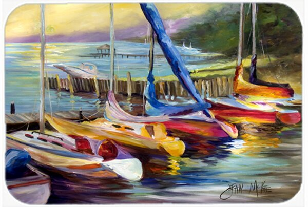 Sailboats At Sunset Rectangle Non-Slip Bath Rug