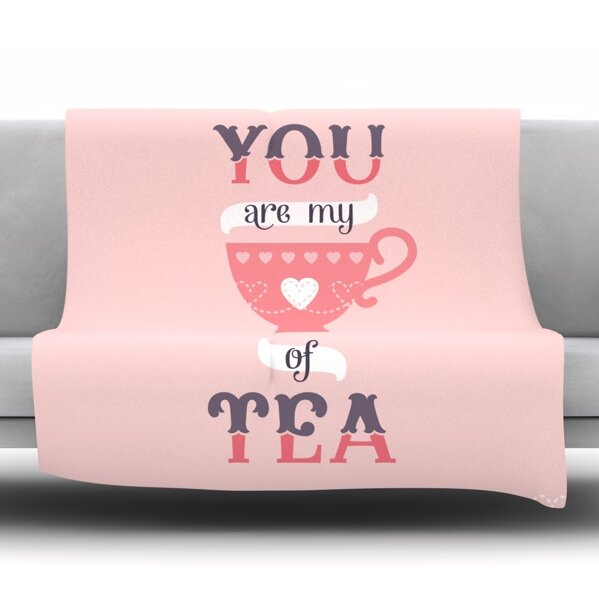 My Cup of Tea by Daisy Beatrice Fleece Throw Blanket by East Urban Home