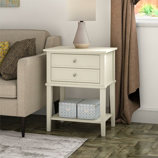 Dmitry 2 Drawer End Table by Beachcrest Home Beachcrest Home