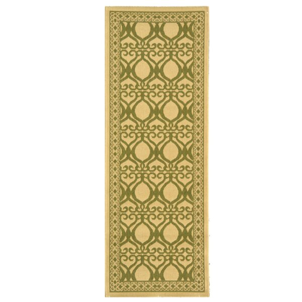 Short Natural/Olive Power Loomed Outdoor Rug by Winston Porter
