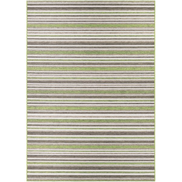 Watson Green/Brown Indoor/Outdoor Area Rug by Charlton Home