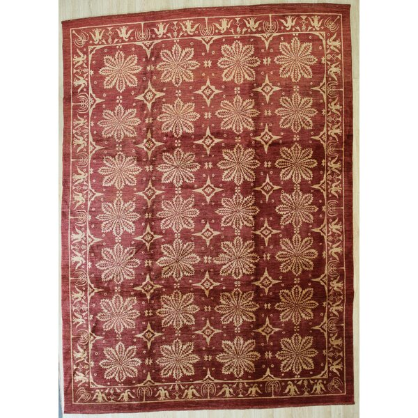 Dillian Hand Knotted Wool Red Rug