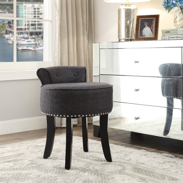 Emest Rolled Back Vanity Stool by Darby Home Co