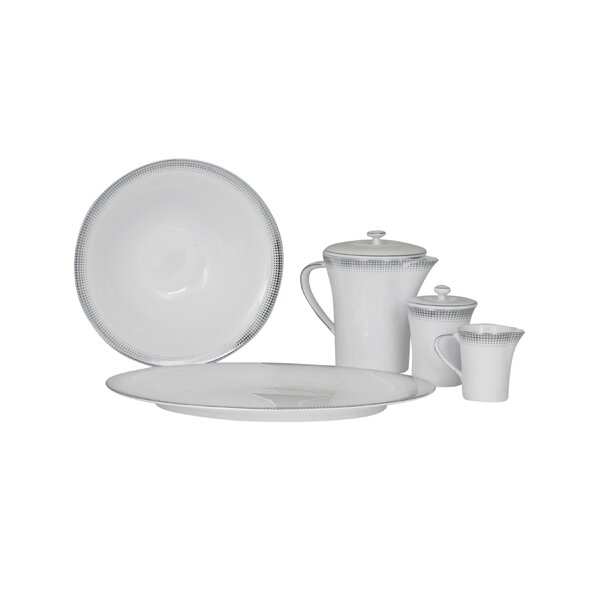 Ambassador Bone China Traditional Serving 5 Piece Dinnerware Set by Shinepukur Ceramics USA, Inc.