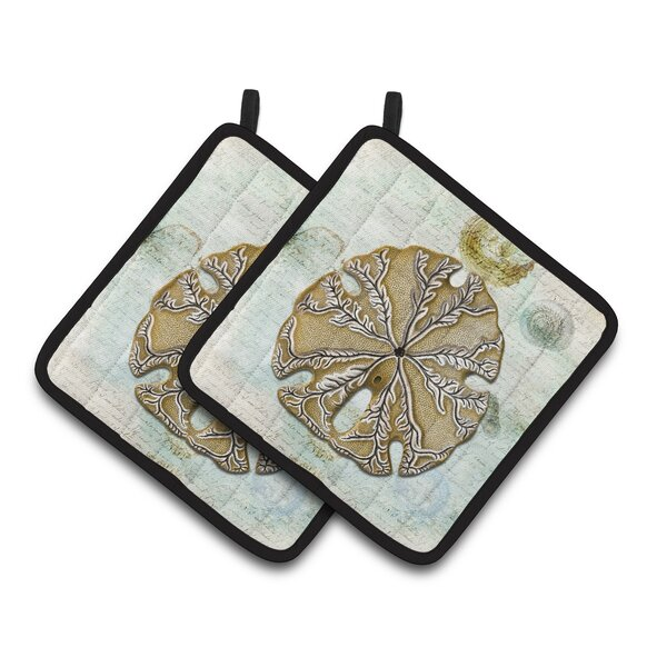 Sand Dollar Potholder (Set of 2) by Caroline's Treasures