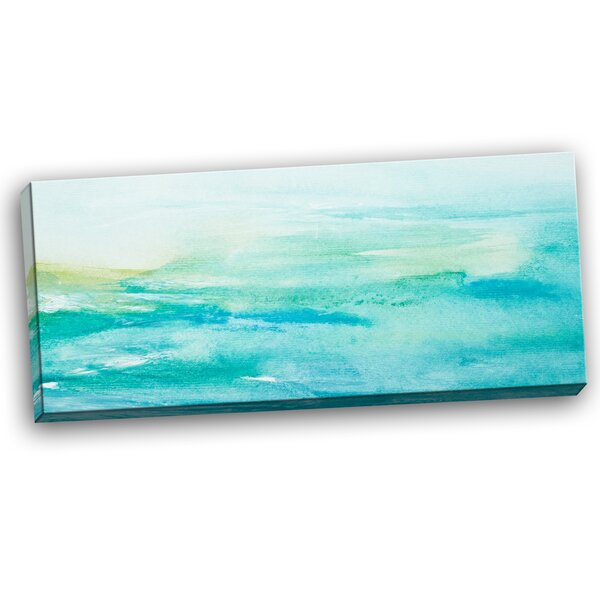 Abstract Sea Close-up Painting Print on Wrapped Canvas by Design Art