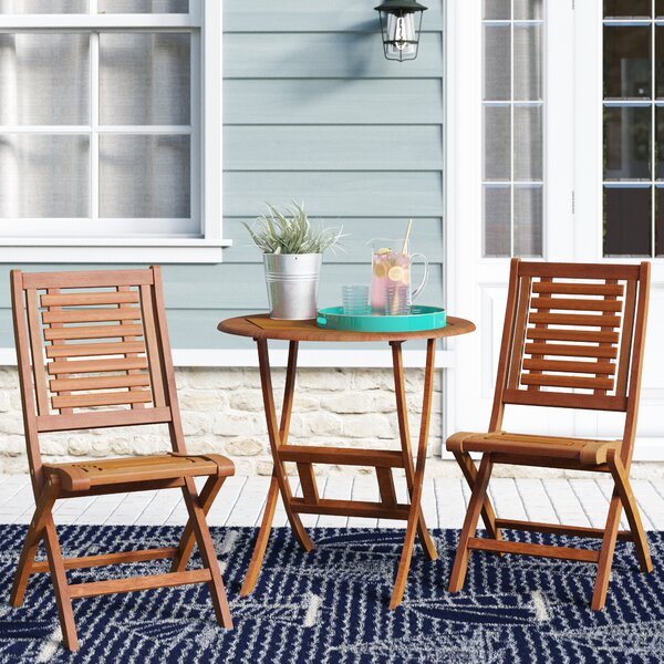 Moana 3 Piece Bistro Set by Beachcrest Home
