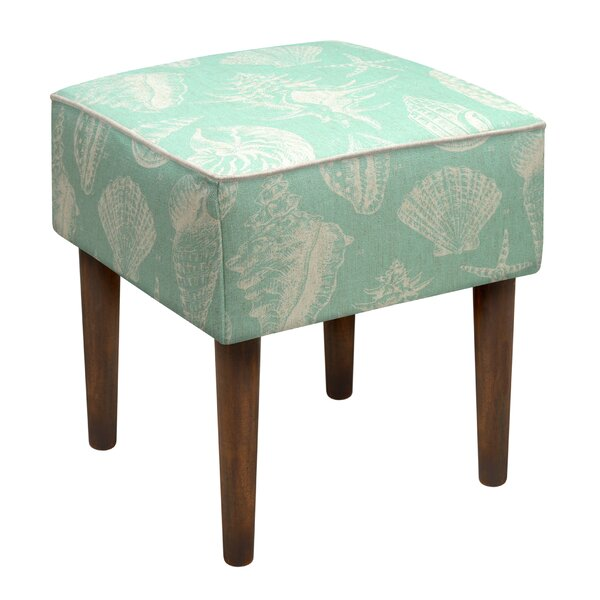 Seashells Upholstered Vanity Stool by 123 Creations