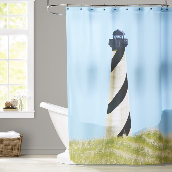 Hancock OuterBanks Geometric Print Shower Curtain by Breakwater Bay