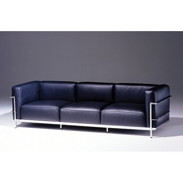 Superieur Teal Leather Sofa | Wayfair
