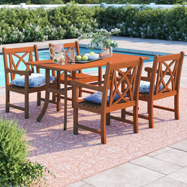 Leonie 5 Piece Dining Set by Beachcrest Home
