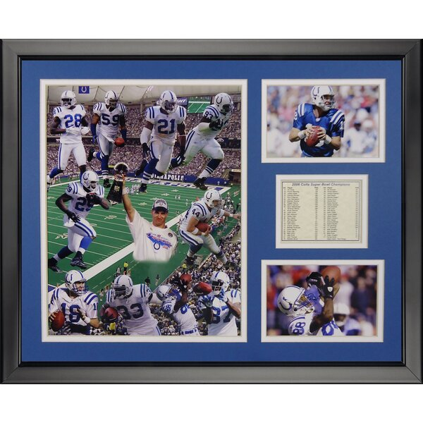 NFL Indianapolis Colts - 2006 Champions Framed Memorabili by Legends Never Die