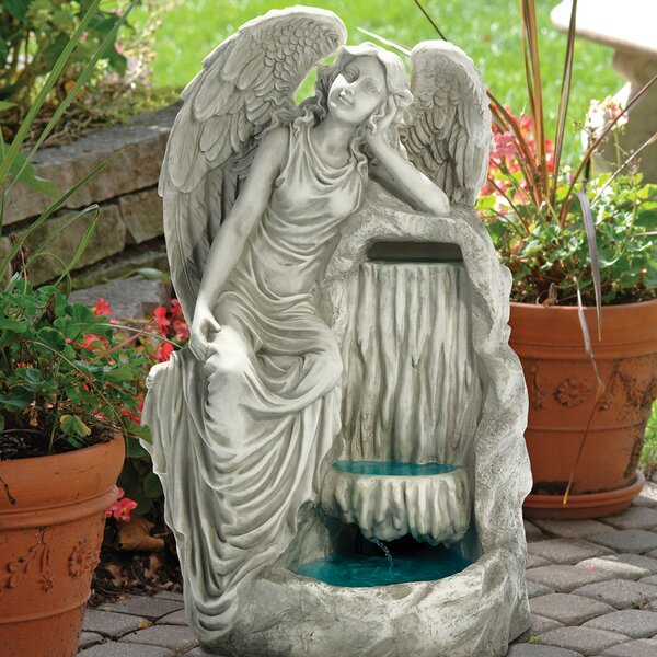 Angel Resin Resting Grace Garden Fountain by Wildon Home ®