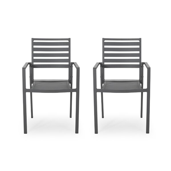 Luxe Outdoor Aluminum Dining Chair by Latitude Run
