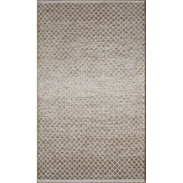 Parker Hand-Woven Brown Area Rug by Rosecliff Heights