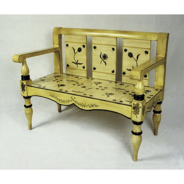Floral Painted Bench by AA Importing