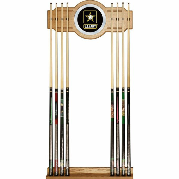 U.S Army Billiard Cue Rack with Mirror by Trademark Global