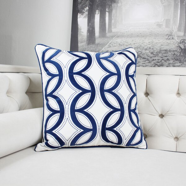 Pedroza Woven Cotton Throw Pillow by Ebern Designs