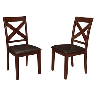 Genuine Leather Kitchen & Dining Chairs You\'ll Love | Wayfair