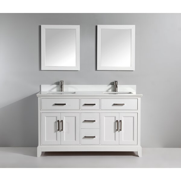 Brae 72 Double Bathroom Vanity Set with Mirror by Gracie Oaks