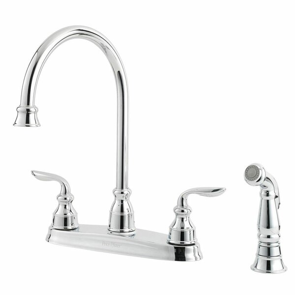 Avalon Double Handle Kitchen Faucet with Side Spray by Pfister