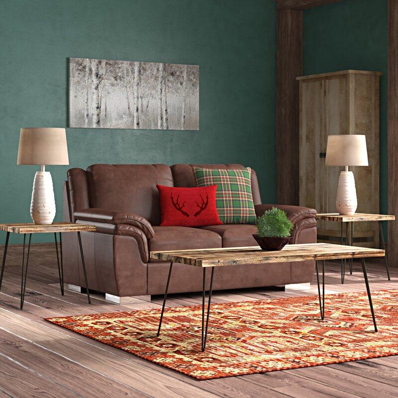 Brayden Studio Stuber 3 Piece Coffee Table Set Reviews Wayfair