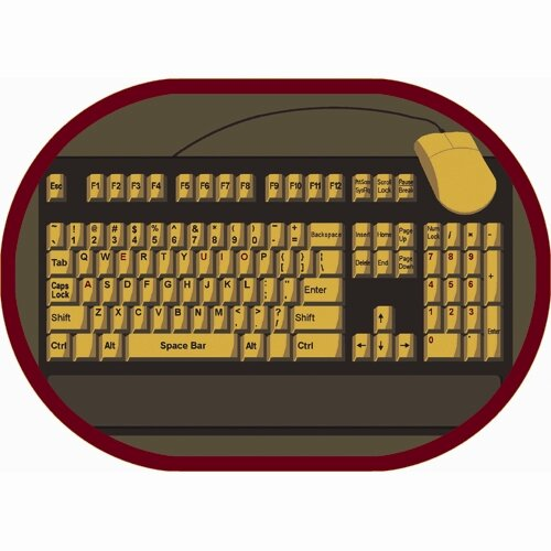 Keyboard Connection Brown/Yellow Area Rug by The Conestoga Trading Co.