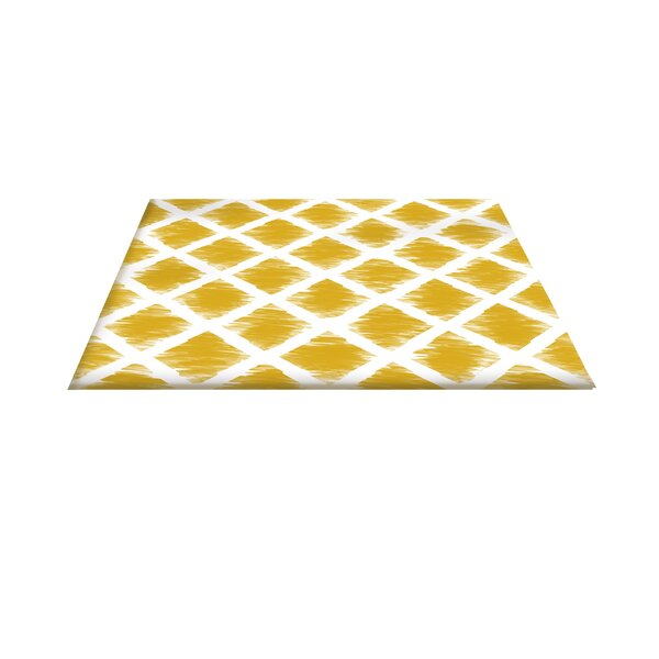 Diamonds Gold Area Rug by Manual Woodworkers & Weavers