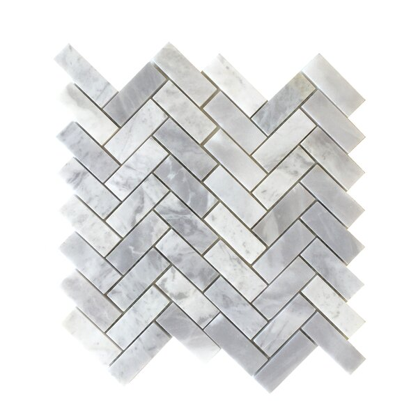 2 1/2 Herringbone Mosaic Polished in Blue Argentino by Seven Seas