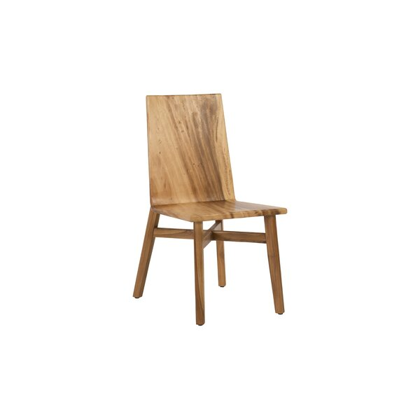 Solid Wood Solid Back Side Chair in Brown by Phillips Collection Phillips Collection