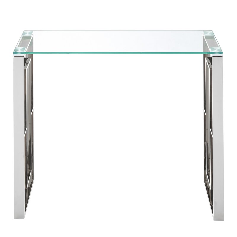 Etonnant Menchaca Stainless Steel Console Table