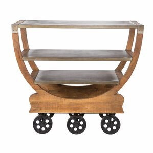 Bridges Mango Wood Bar Cart by Union Rustic