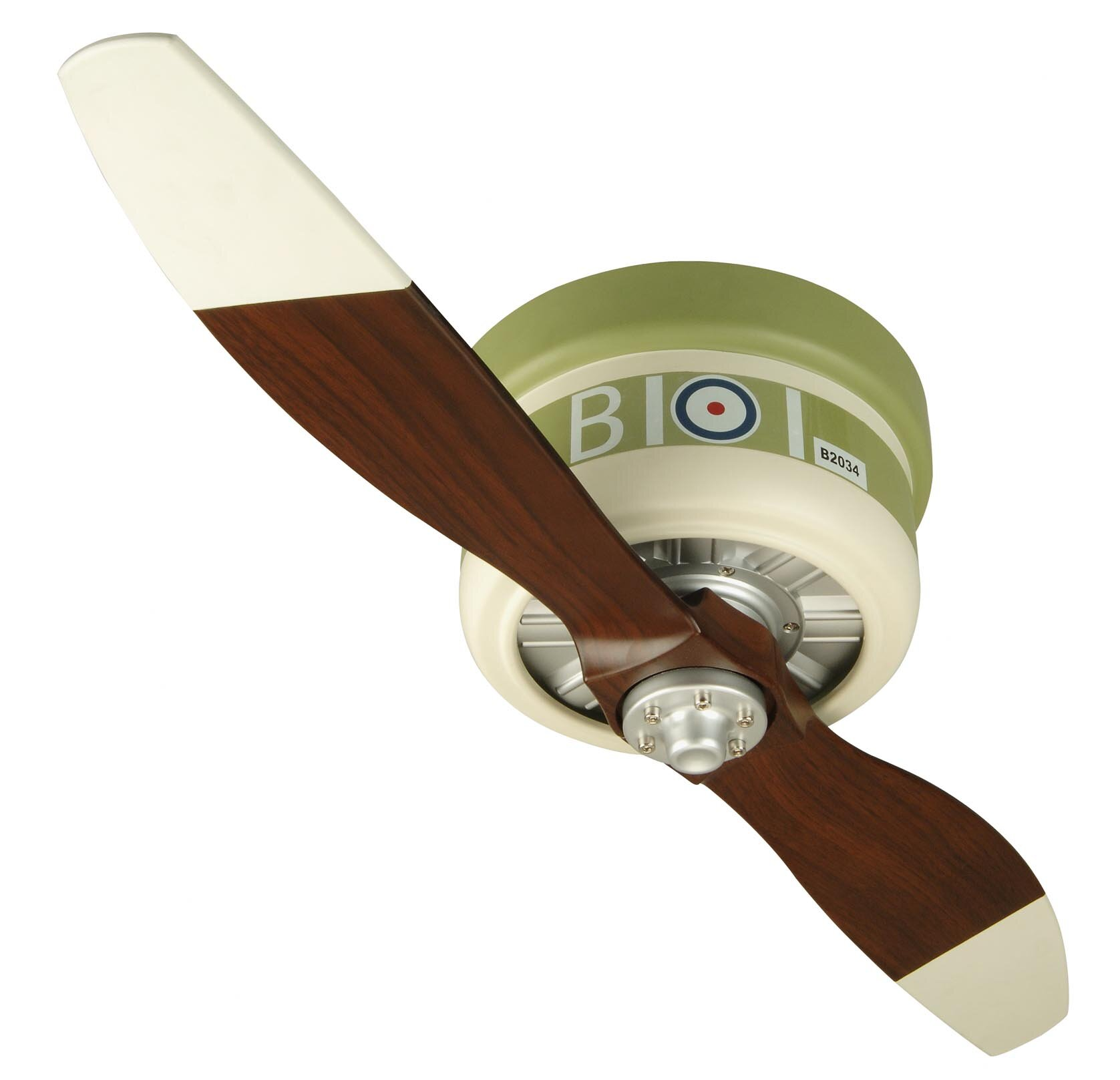 """Zoomie Kids 42"""" Forestport 2 Blade Ceiling Fan with Remote"""