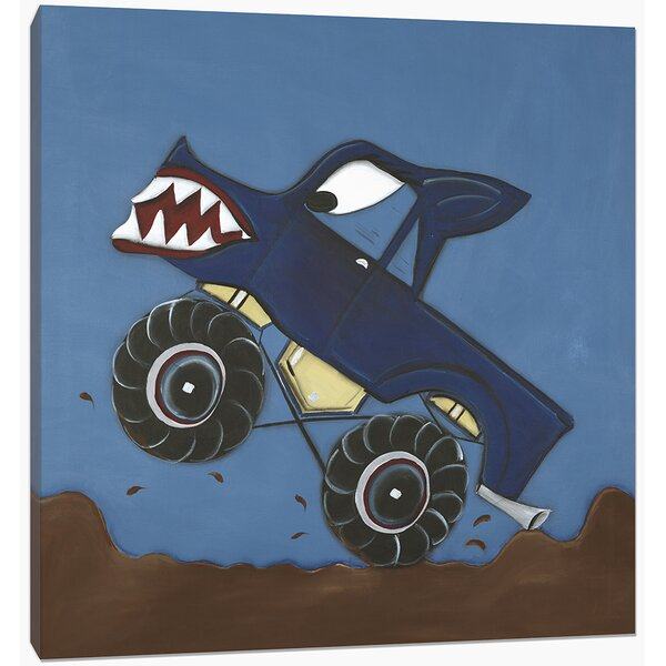 Transportation Monster Truck Canvas Art by Doodlefish