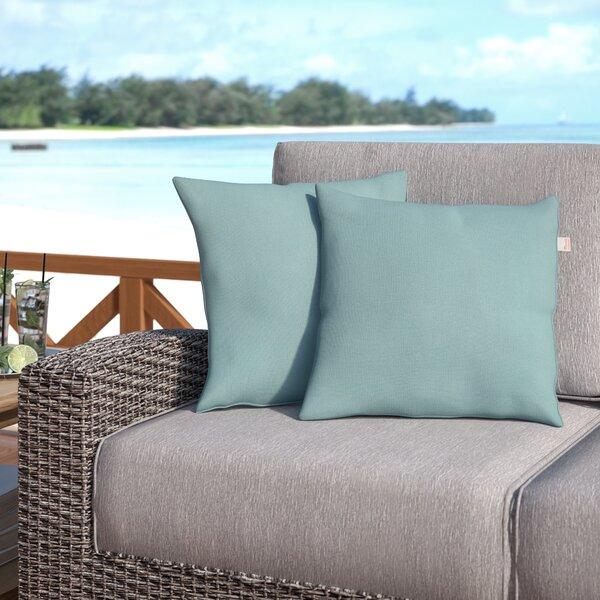 Livia Spa Outdoor Sunbrella Throw Pillow (Set of 2) by Longshore Tides