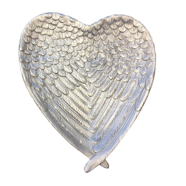 Philson Resin Heart Decorative Plate by August Grove