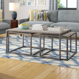 Masuda 3 Piece Nested Coffee Table Set