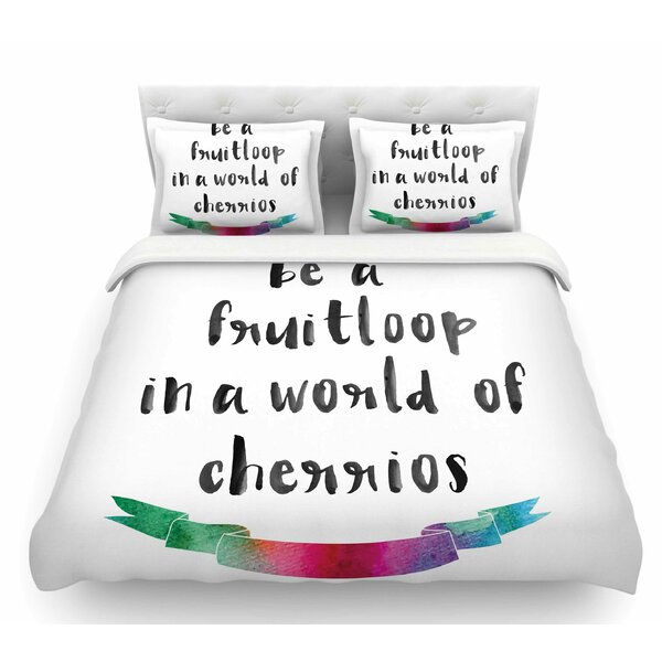 Be a Fruitloop  Featherweight Duvet Cover by East Urban Home