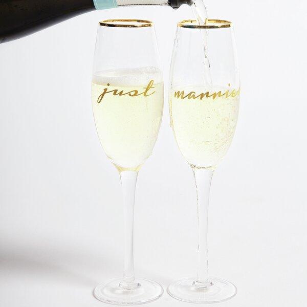 Hus Toast 8 Oz. 2 Piece Champagne Flute Set by 8 Oak Lane