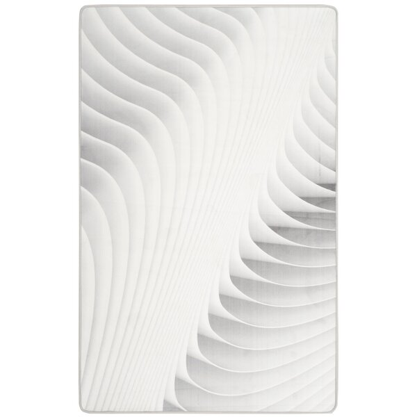 Cahoon Abstract Ivory Area Rug by Orren Ellis